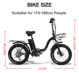 "750W Folding Electric Snow Bike with Fat 20"" Wheels - THE GOOD TINGZ"