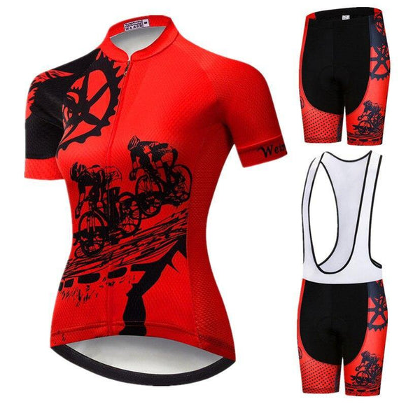Women's Summer Cycling Set with 5D Coolmax Gel Breathable Pad - THE GOOD TINGZ