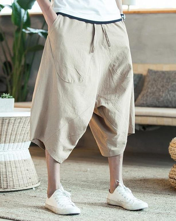 Men's Pure Cotton Baggy Trousers - THE GOOD TINGZ