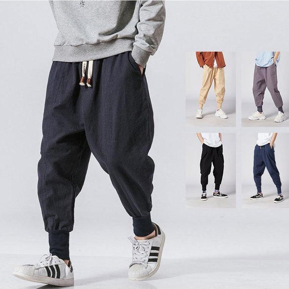 Men's Drawstring Harem Jogger Pants - THE GOOD TINGZ