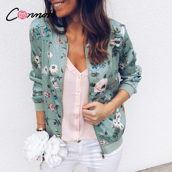 Floral Print Bomber Jacket - THE GOOD TINGZ