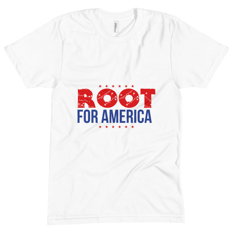 Root for America Red-White-and-Blue Unisex Crew Neck Tee
