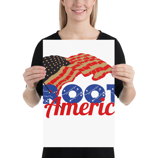Root for America Stars & Stripes Poster