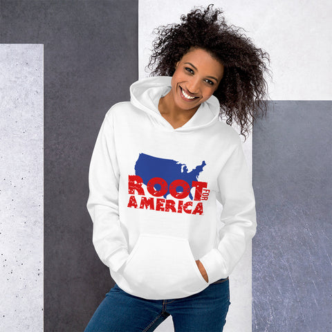 Root for America Red-White-and-Blue Unisex Hoody