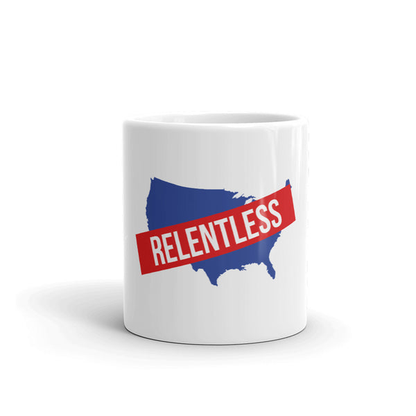 Relentless America Red-White-and-Blue Mug