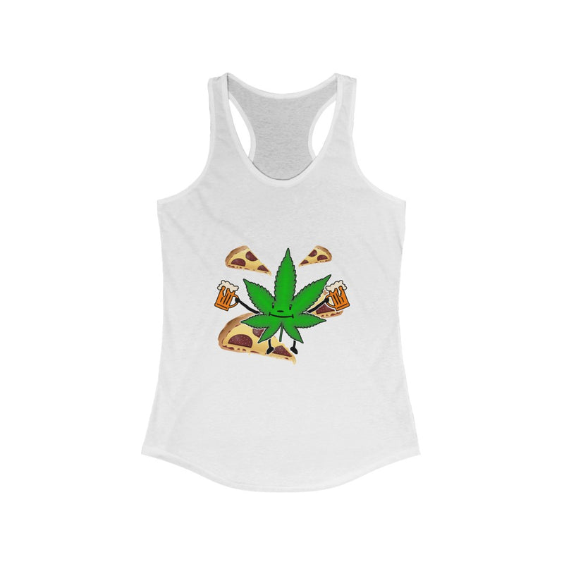 PIZZA BEER CANABIS TANK TOP
