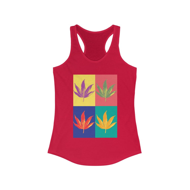 COLORFUL CANNABIS ARTISTIC TANK