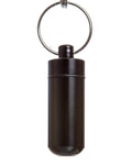 Key Chain Stash Jar Black