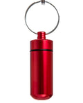 Key Chain Stash Jar Red