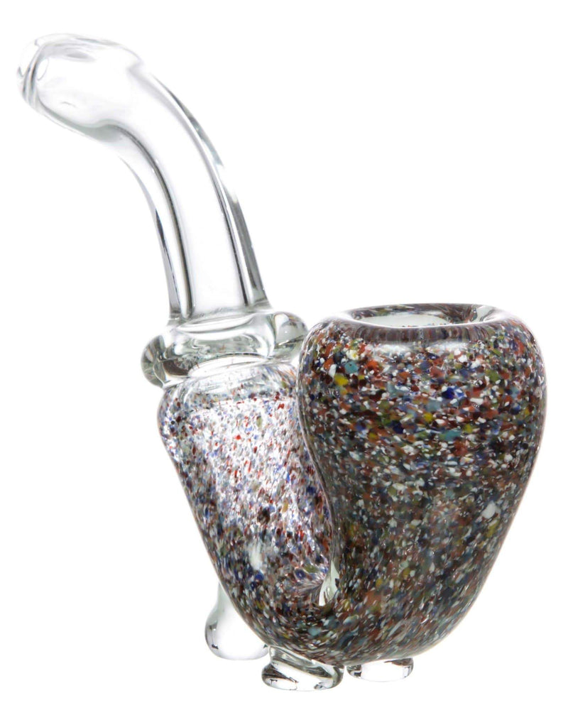 speckled standing colored glass sherlock pipe