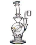 "Diamond Glass ""Rigception"" Showerhead Perc Incycler Blue"