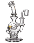 "Diamond Glass ""Rigception"" Showerhead Perc Incycler Clear"