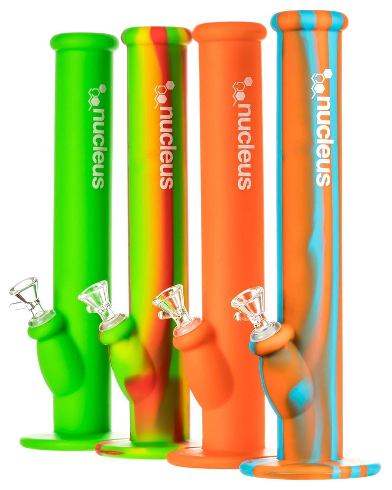 Silicone Straight Tube Bongs