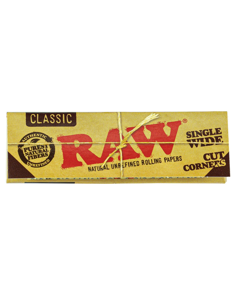 RAW Classic Cut Corner Rolling Papers Single Pack