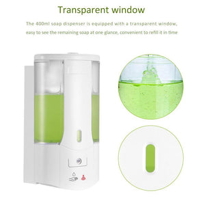 400ml Automatic Soap Dispenser Touchless Sensor Hand Sanitizer Shampoo Detergent Dispenser Wall Mounted For Bathroom Kitchen - {{ soapsforyoni.com}}