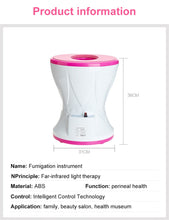 Load image into Gallery viewer, Yoni Vagina Mini Steamer Sitting Gynecological Andrology Reproductive Steam Seat Fumigation Instrument Women Health Care