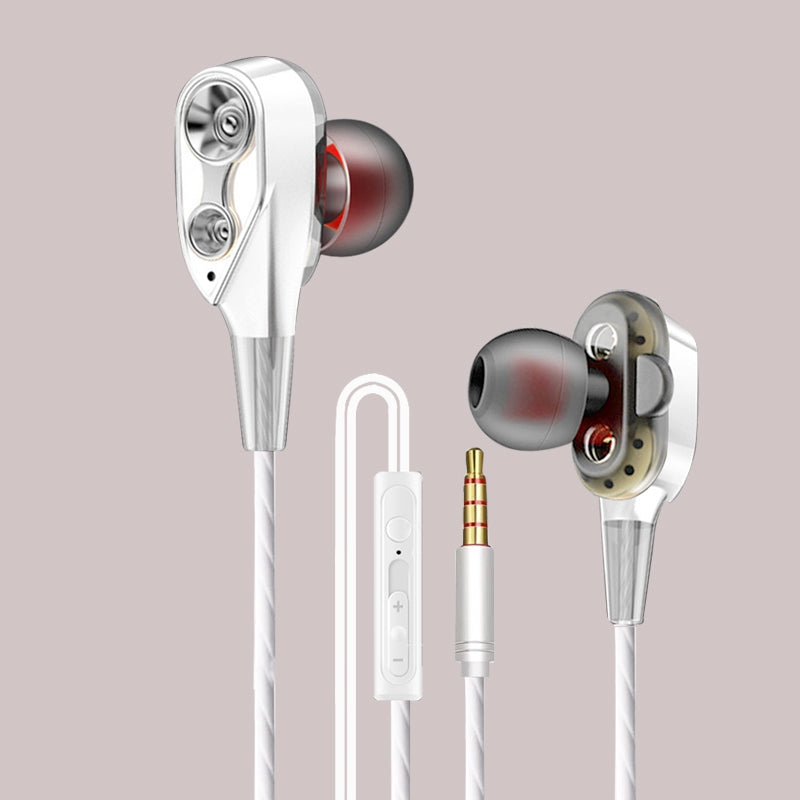 Z2 Wired Earphone High Bass Dual Drive Stereo In-Ear Earphones With Microphone Computer Earbuds for Cell Phone