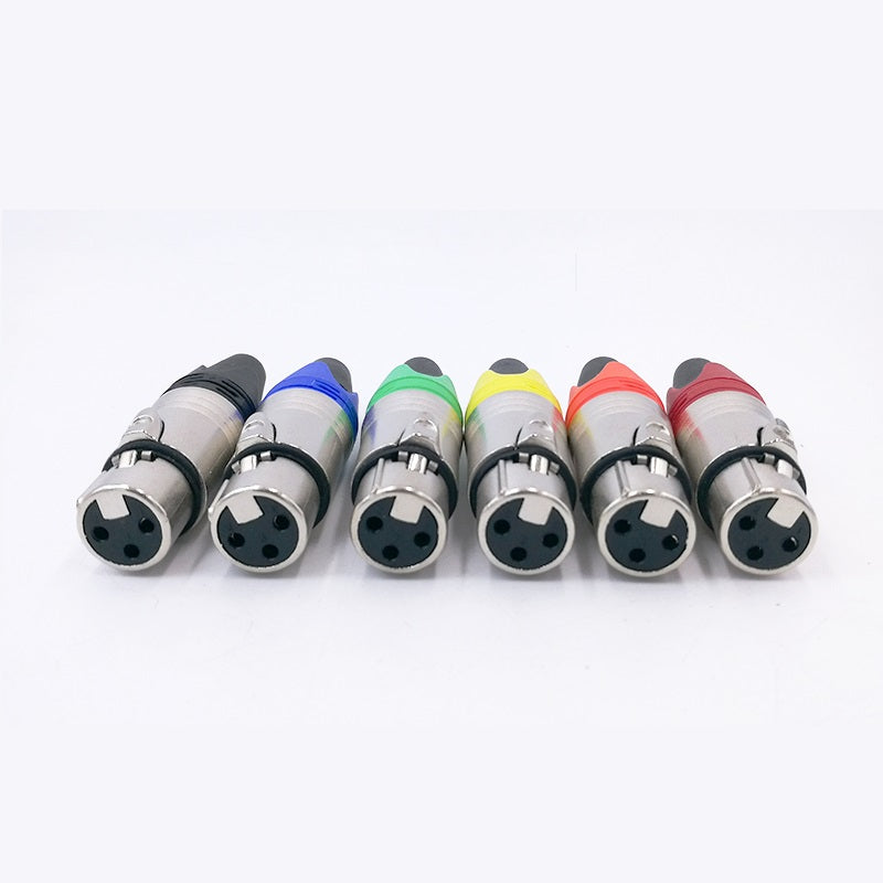 XLR Connector Audio Plug Microphone 3pin Speaker Male & Female Colour Mic Cable