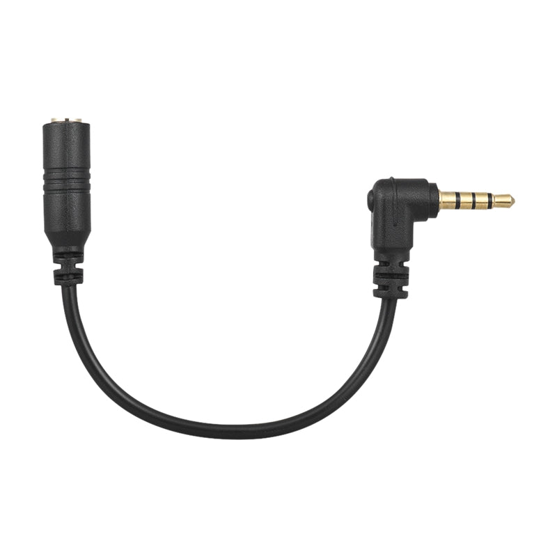 Universal 3.5mm 3 Pole TRS Female to 4 Pole TRRS Male Microphone Adapter Cable Audio Stereo Mic Converter for ipad