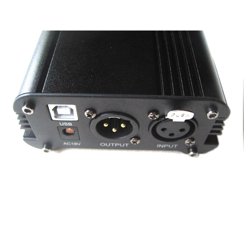 USB 48V DC Phantom Power Supply Adapter Unit Out for Condensor Microphone Pro