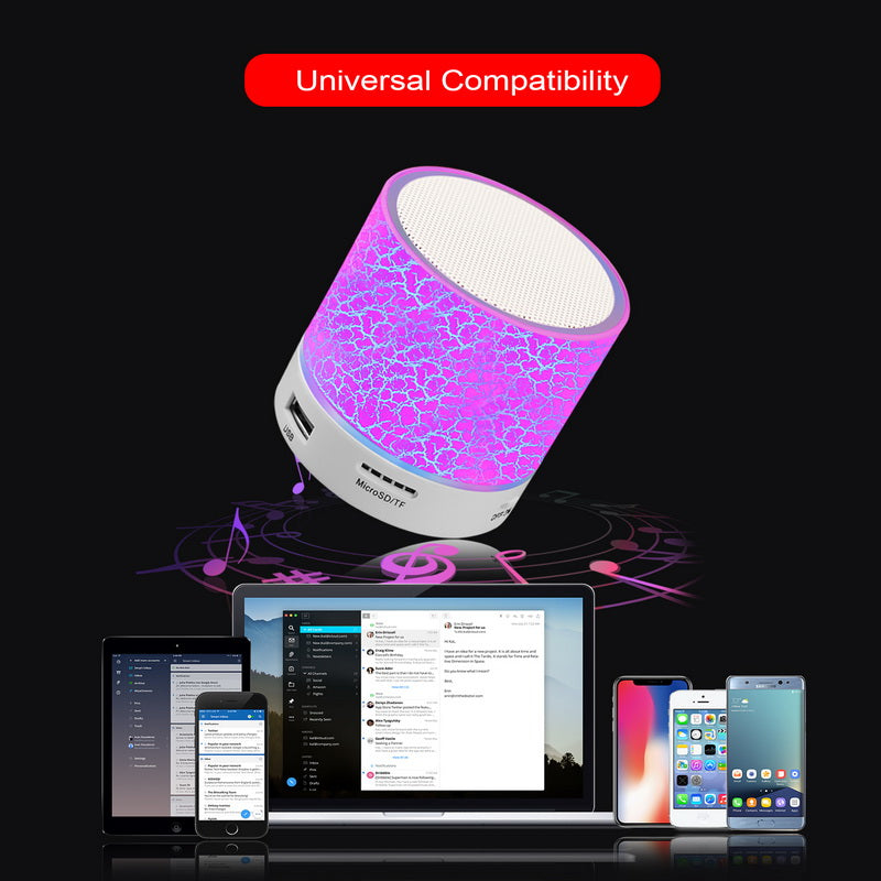 Wireless Portable Bluetooth Speaker Mini LED Music Audio TF USB FM Stereo Sound for Phone Xiaomi Computer Column