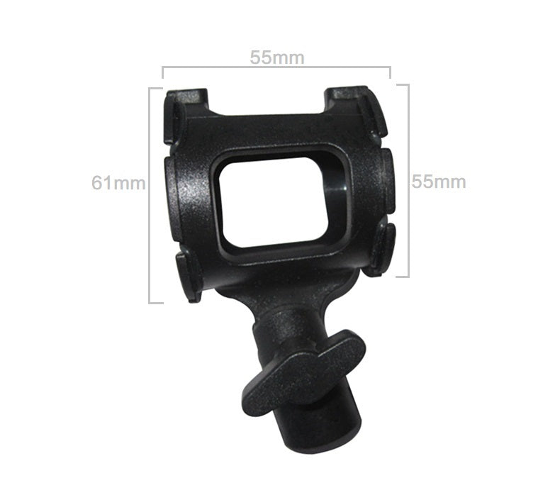 Shotgun Microphone Suspension Shock Mount Holder Clip for Pencil Condenser MA-9024 Mic Rubber Clamp 15-38mm