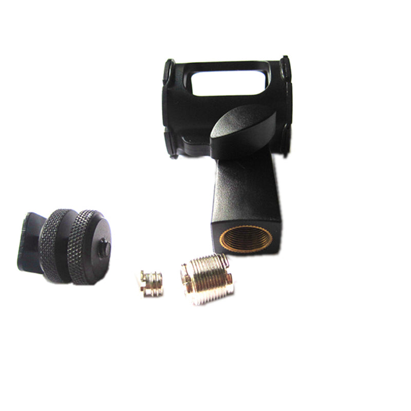 Sm3 Low Profile Shock Mount for Shotgun Microphone with Solid Metal Camera Hot Shoe Suspension 1/4 20,3/8,5/8