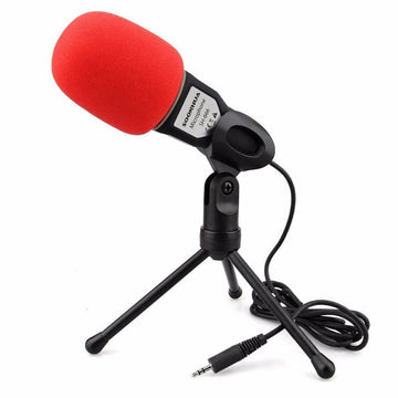 SF-666 Professional Condenser Microphone Sound Podcast Studio Microphone for PC Laptop Skype MSN