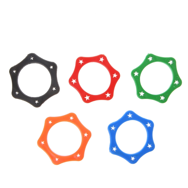 Rubber Microphone Anti Slip Roller Holder Clip Mark Twist Hexagon Star Six Mark Mic Blue Yellow Color Pro