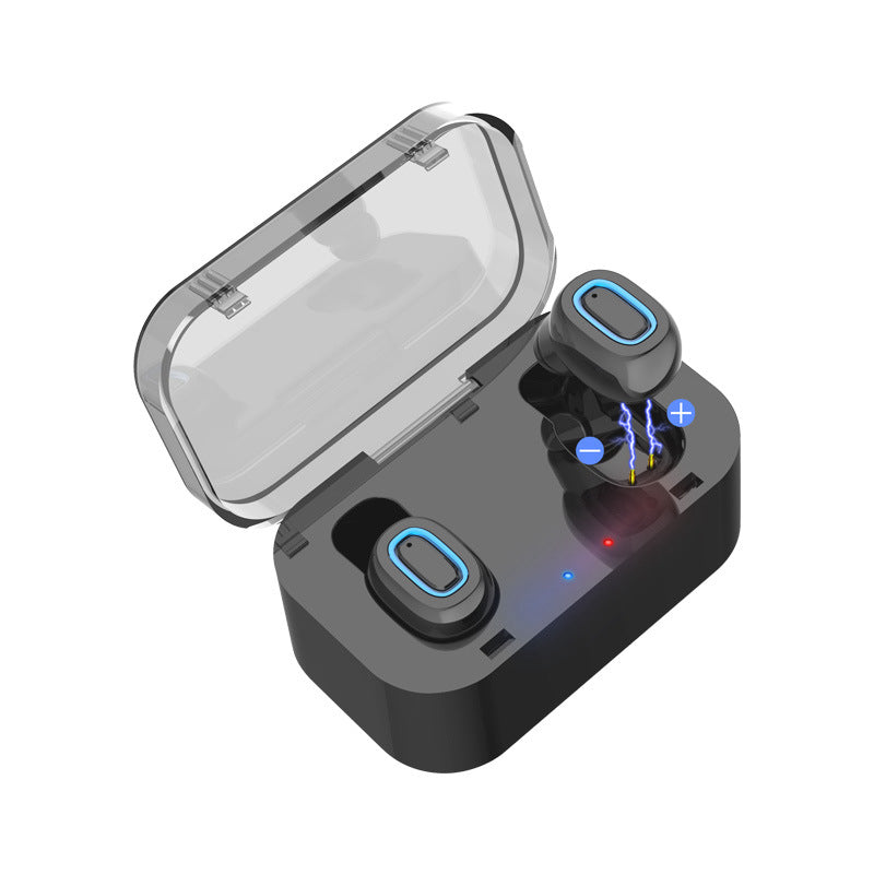 Q11 Binaural Mini Bluetooth Earphone With Microphone Twins Mini In-Ear True Wireless Earphones Headset Earbud Invisible Stereo With Chargeable Box for Phone