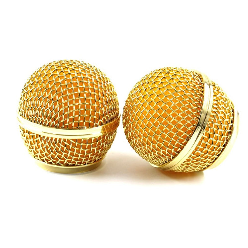 New Replacement Gold Plated Mesh Ball Head Mesh Microphone Grille for SM58 BETA58