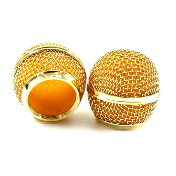 New Replacement Gold Plated Mesh Ball Head Mesh Microphone Grille for SM58 BETA58 565SD-LC