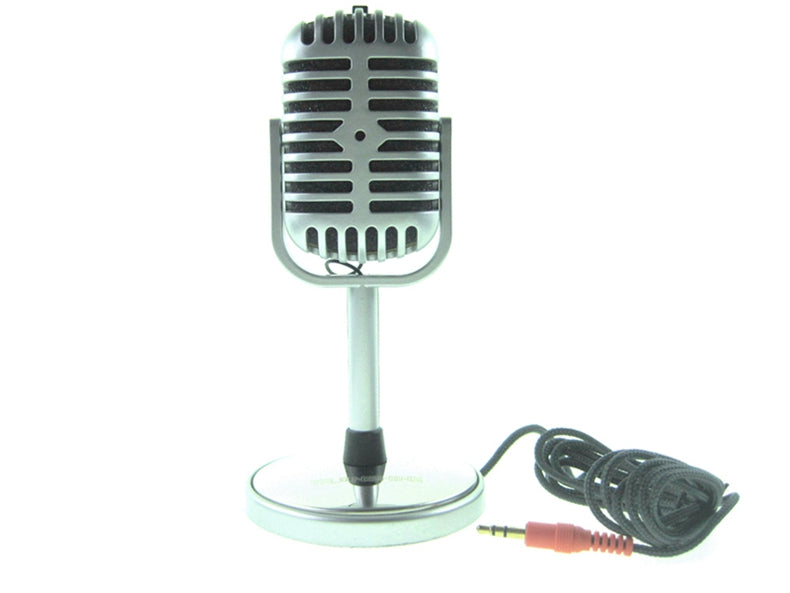 PC-058 Mini Vintage Microphone Singing Recording for Laptops PC MSN Skype Desktop Notebook 3.5mm Condenser Studio Retro Klinke Aux Anschluss