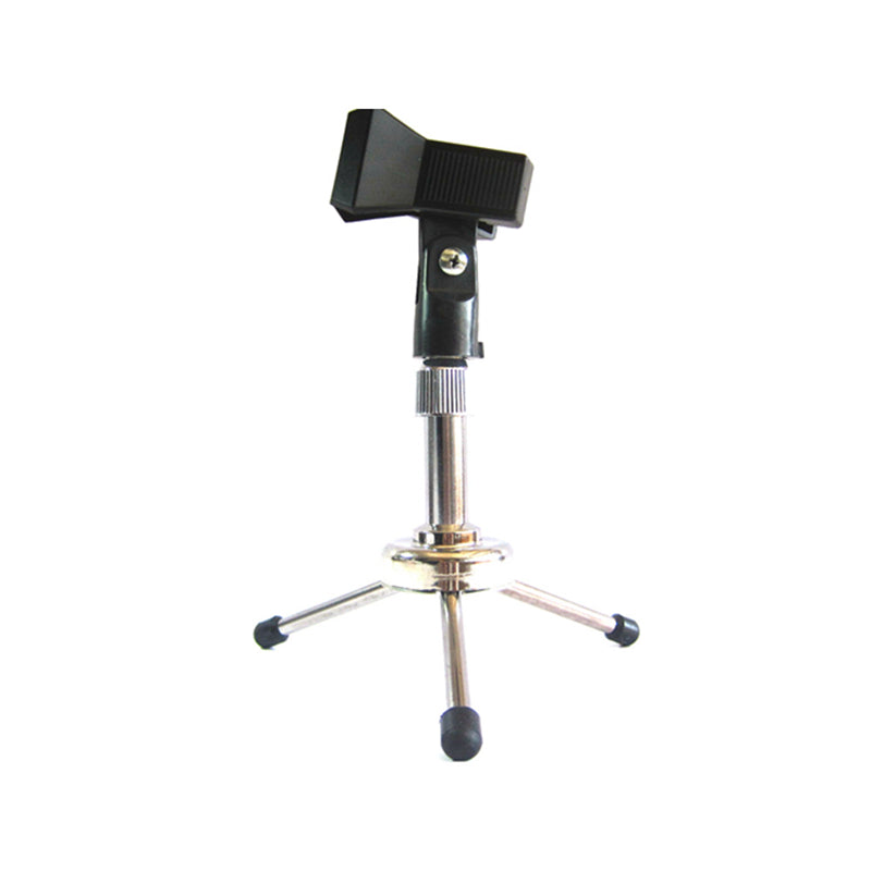 Pro Desk Top Tripod Microphone Stand Spring Clip Holder Table Semi Flat Podium 22-30mm Mic