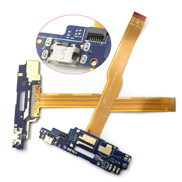 Microphone USB Port Dock Charge Charging Flex Cable Board PCB For ZTE Voyage 4 Blade A610 Phone Repair DIY