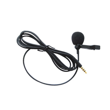 Mini 3.5mm Jack Microphone Lavalier Tie Clip Microphones Speaking Speech Lectures Condenser Portable Laptop Clip-on Lapel Cable for iphone Phone 1.5m
