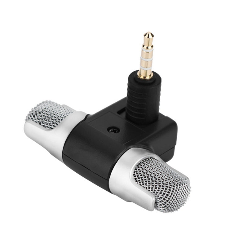 Mini 3.5mm Jack Microphone Stereo for Recording Studio Interview for iPhone Plus Mobile Phone Smartphone iOS Android Samsung Digital Adapter Huawei Xiaomi