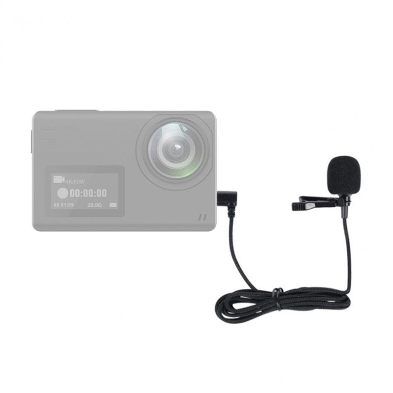 Mini Microphone for SJCAM SJ6 SJ7 SJ360 Action Camera 1.5m Portable Clip On Mic
