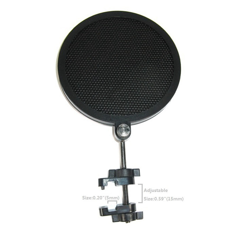 Mini Pop Filter for Broadccasting Recording Karaoke Microphone Antipop Shield Single Flex PS-2 Audio 8cm