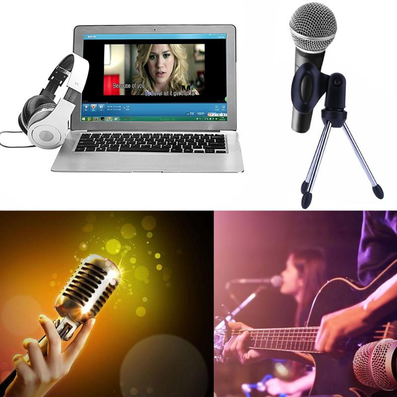 Mini Portable Table Tops Microphone Stand Tripod Zinc Alloy Bracket Desktop Adjustable Microphones Holder
