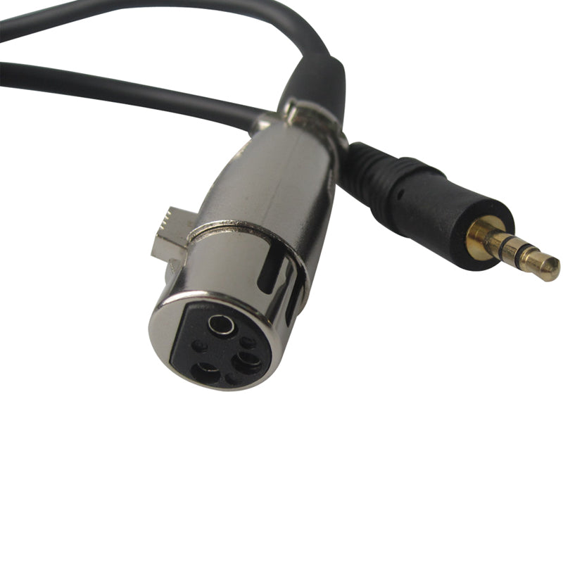 Microphone Cable XLR Female 3 Pin to 3.5mm Audio PC KTV Gold Plated 10FT 3M