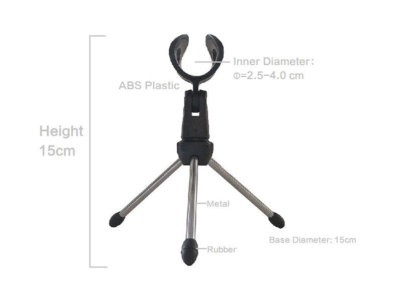 Microphone Desk Stand Table Top Triopod Clip for Phone Conference Public Mount Holder Camera