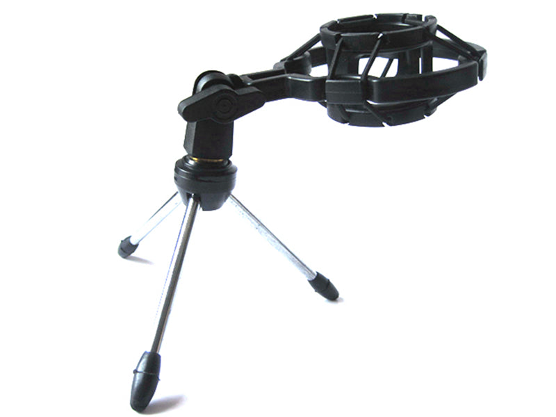 Microphone Desktop Tripod Stand with Shock Mount for BM-700 BM-800 Suspension 40mm