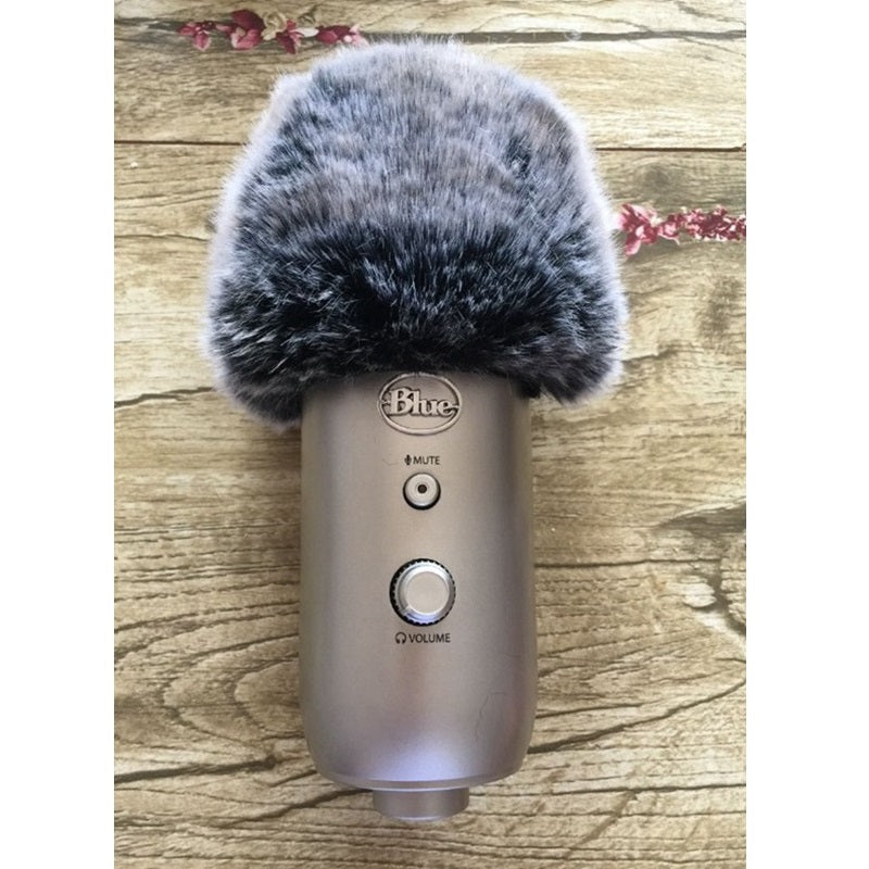 Microphone Fur Muff Windscreen Windshield Recorder for Blue Yeti Pro Condenser Grille Outside MXL Condenser Live Desktop