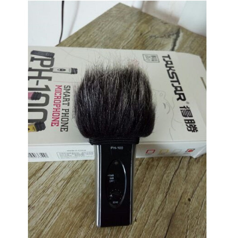 Microphone Fur Windscreen for PH-100 HN-47 Sony Takstar Recorder Handy Interview Muff Video
