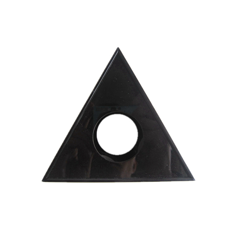 Microphone Interview Acrylic Pmma Logo Flag Station 3 Sided Triangle Triangular