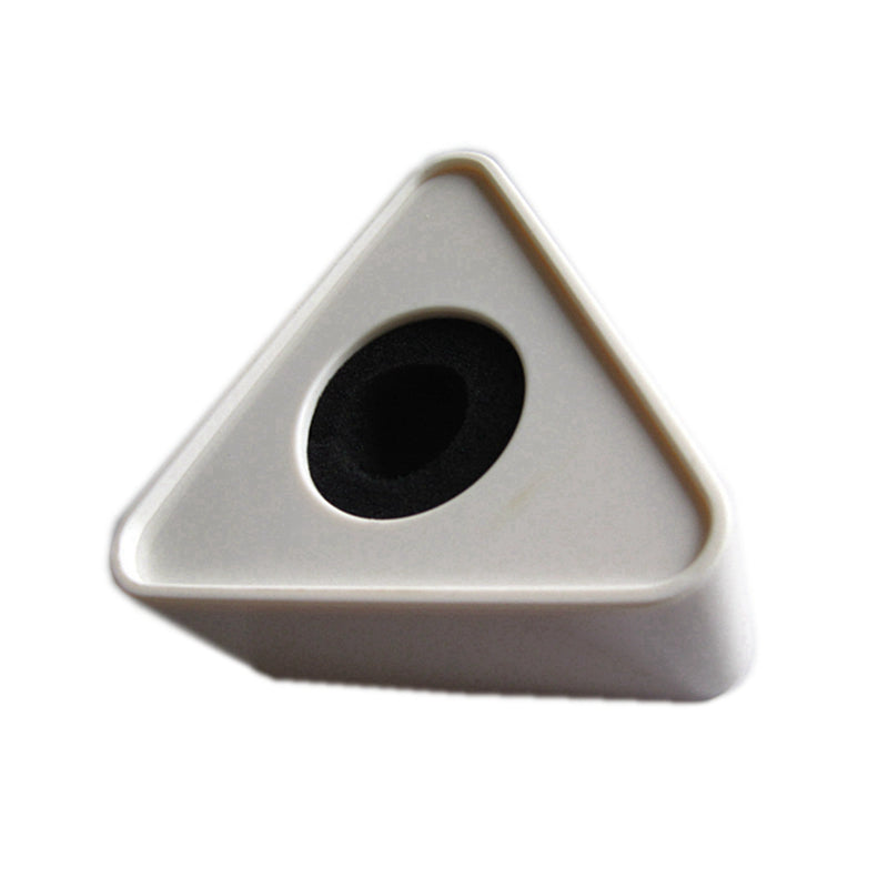 Microphone Interview Acrylic Pmma Logo Flag Station ID 3 Sided Triangle Triangular 30-39mm Black White