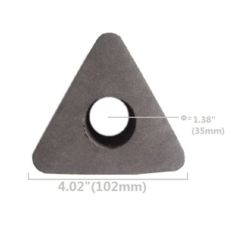 Microphone Interview PU Logo Flag Station 3 Sided Triangle Triangular Pro 35mm Lot Mic Bulk New Professional