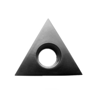 Microphone Interview PU Logo Flag Station 3 Sided Triangle Triangular Pro 40mm Lot