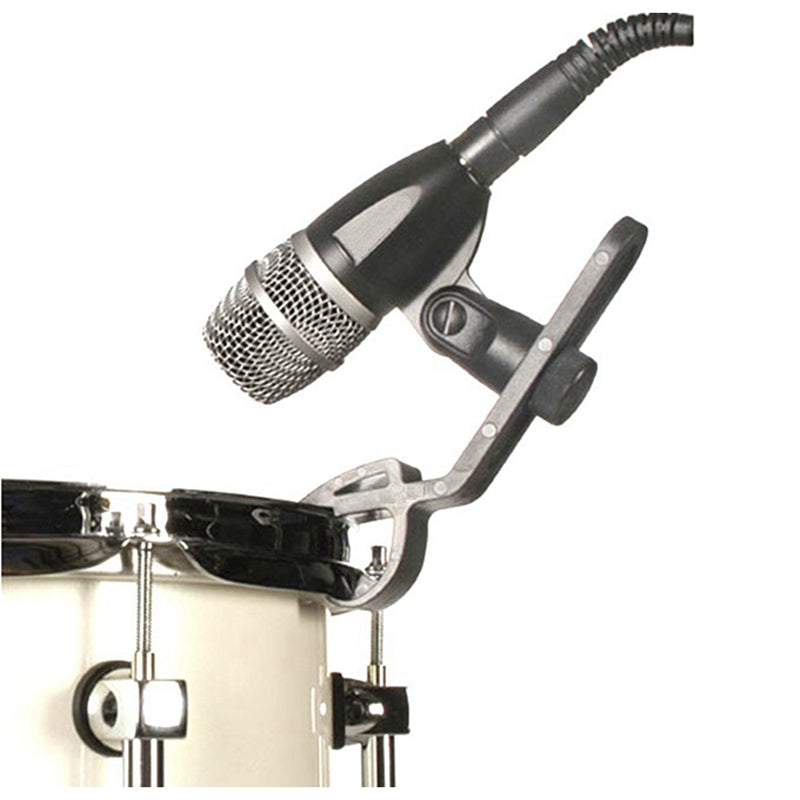 Microphone Jazz Drum Clip Kit A50D Mount Snare Tom Clamp Rim Holder Plastic Studio DM57